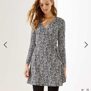 NWT loft leopard print wrap dress